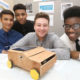 The Midland region of the Engineering Education Scheme held their Celebration and Assessment Day at Cranmore Conference Centre, at Solihull on Tues (2nd May). In the picture is the team from Barr's Hill School, who are working with Jaguar Land Rover. They are from the left, Ahmad Ali, Daniel Avworo, Sam Thomas and Alen Okechukwu.