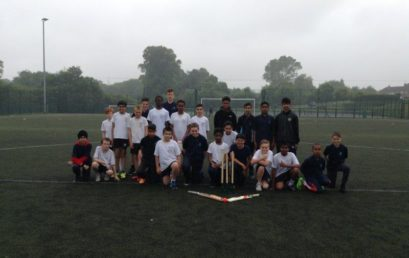 Year 7/8 boys win cricket match against Bluecoat school