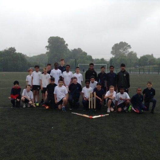 Year 7/8 boys win cricket match against Bluecoat school