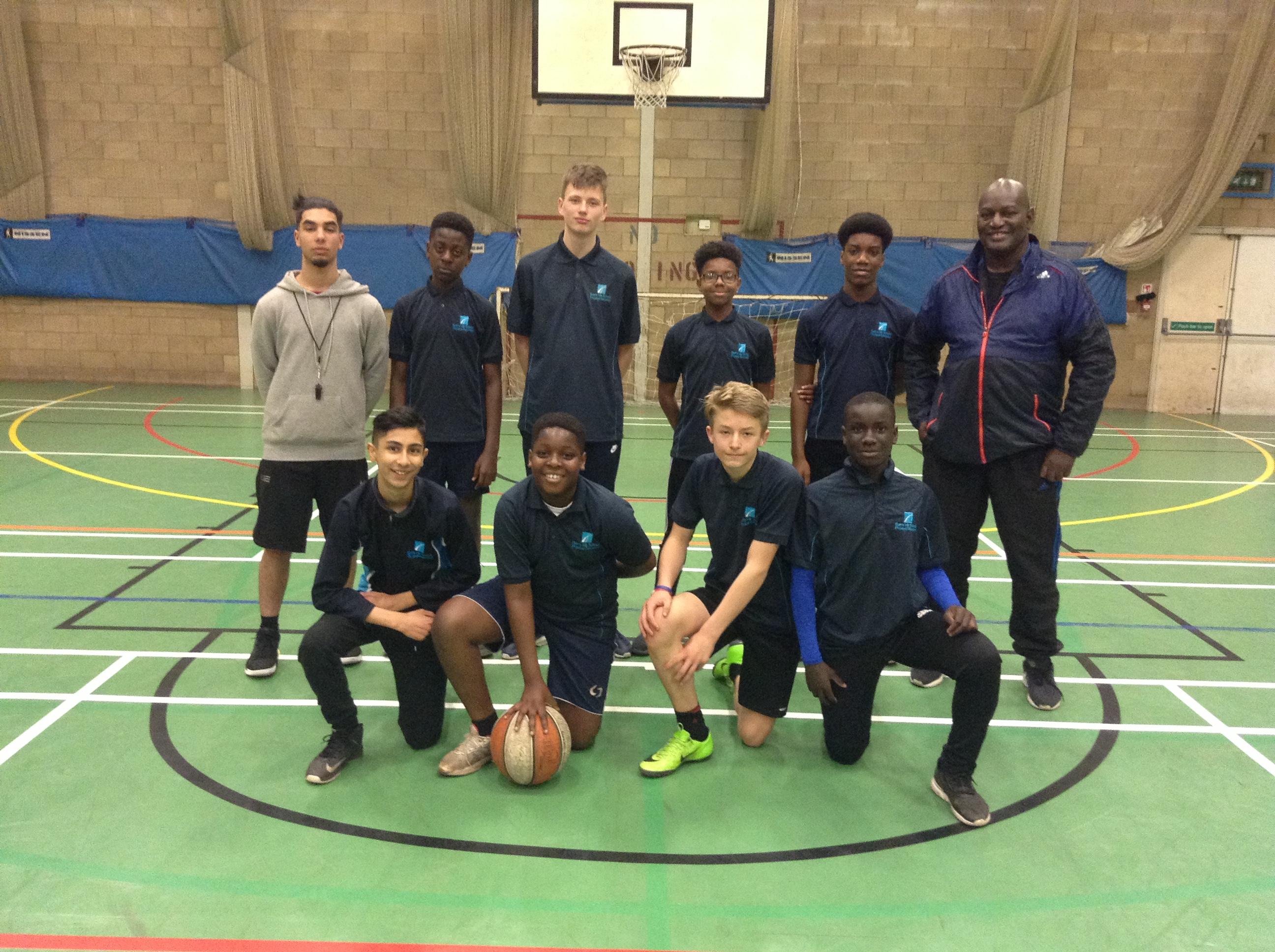 KS3 Boys Basketball Team win 14-6 against Stoke Park
