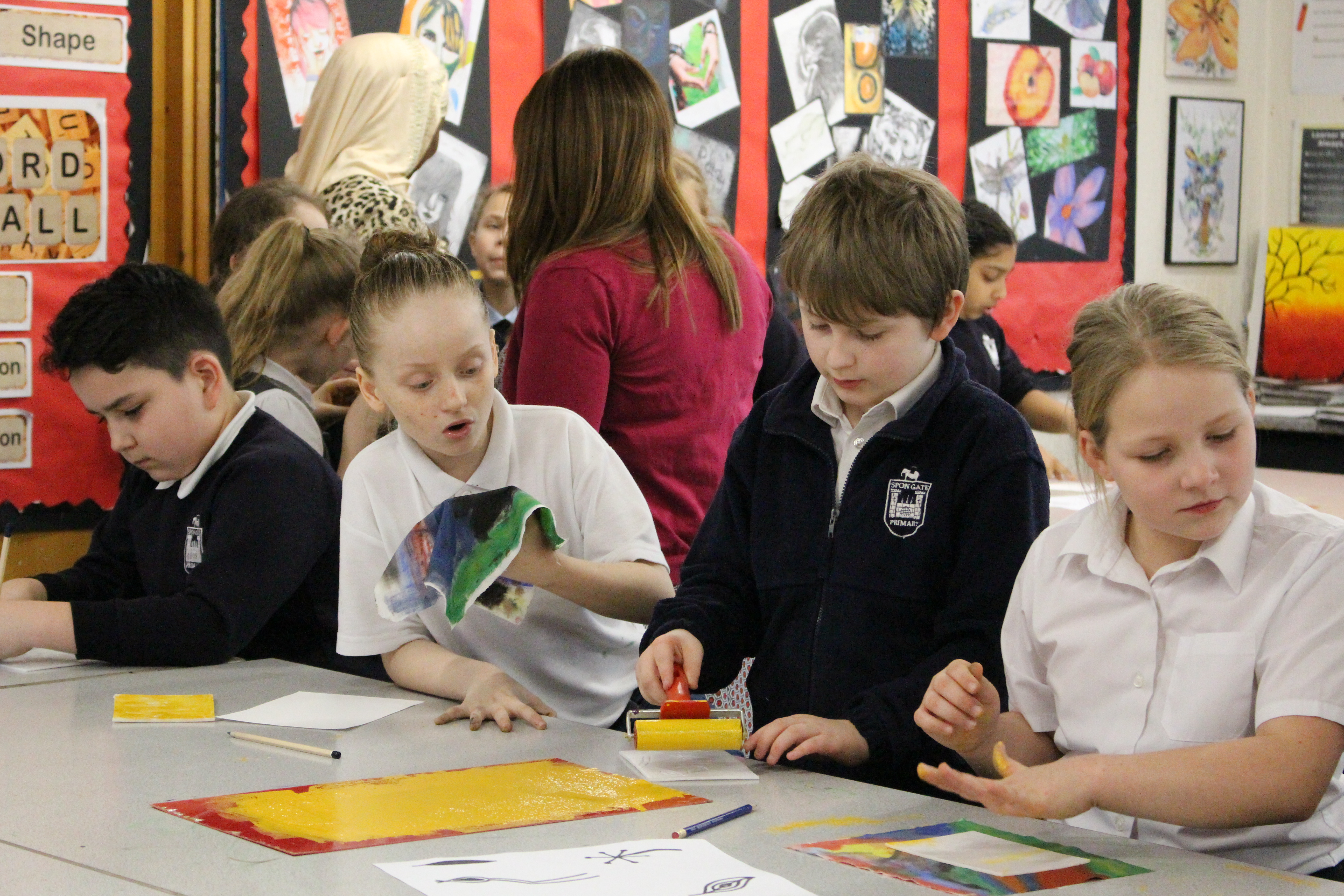 Year 5 Spon Gate Primary School students recreate famous art work