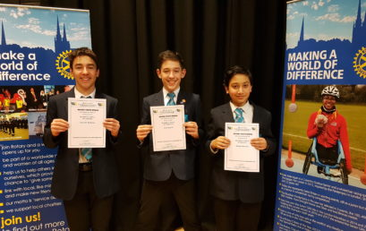 Year 8 students perform outstandingly at Public Speaking competition