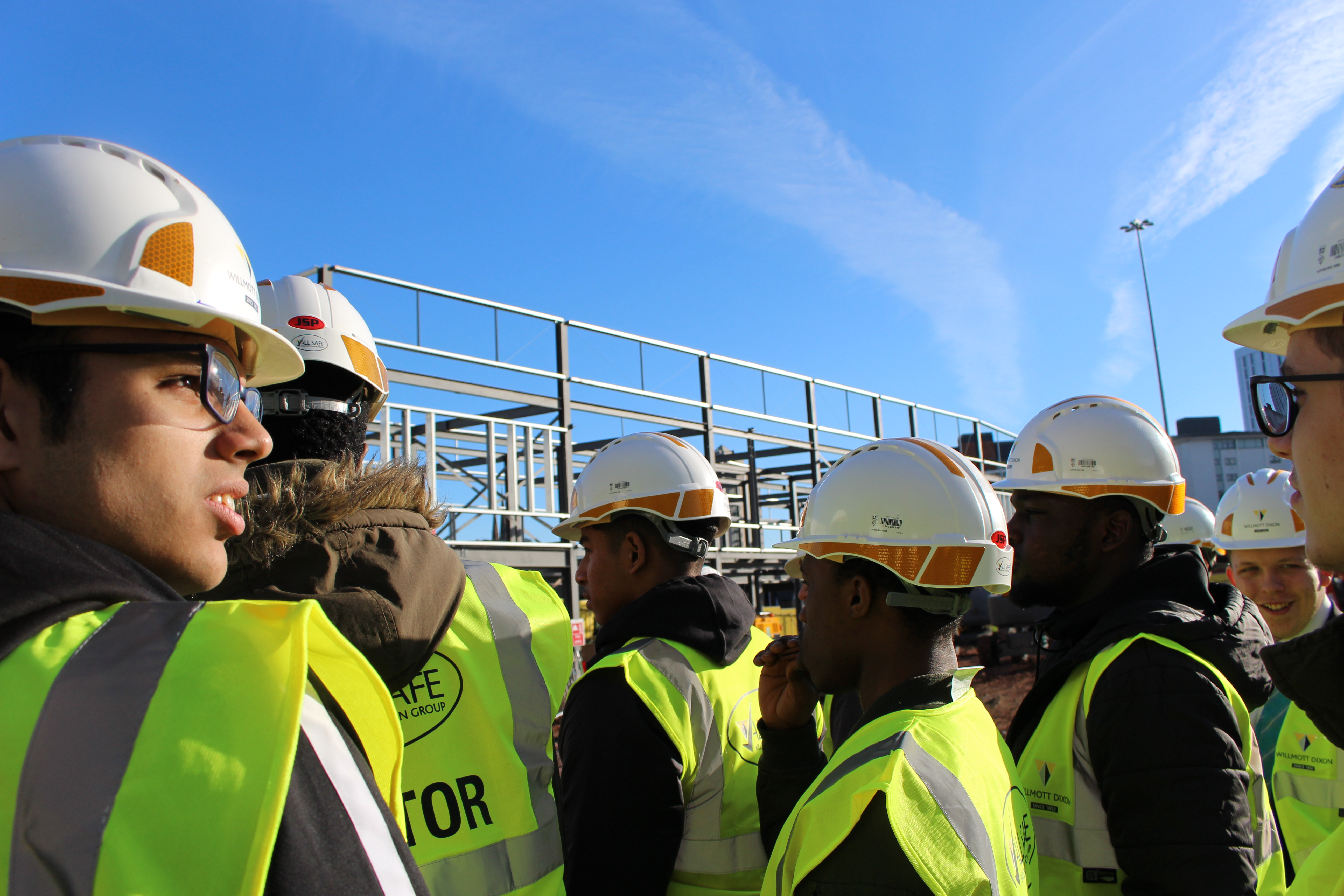 Student's learn about careers in construction