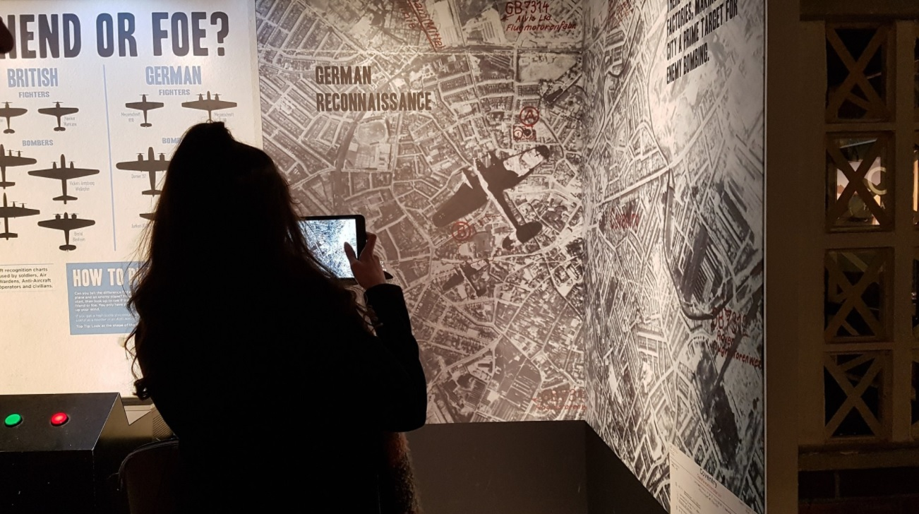 Students work on a documentary about Coventry's Blitz
