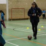 CCFC Football Development Officer coaches student
