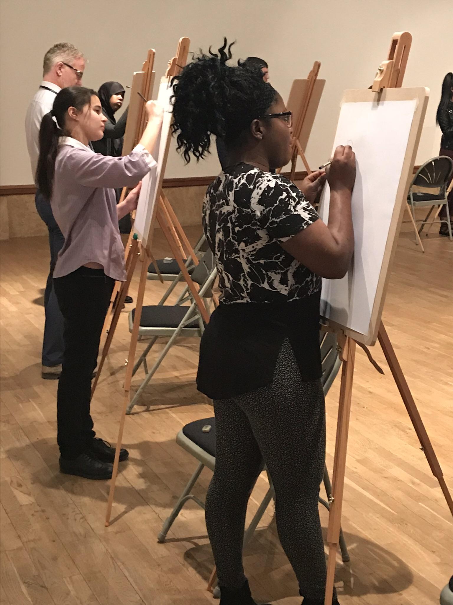 Arts Award Portrait Workshop