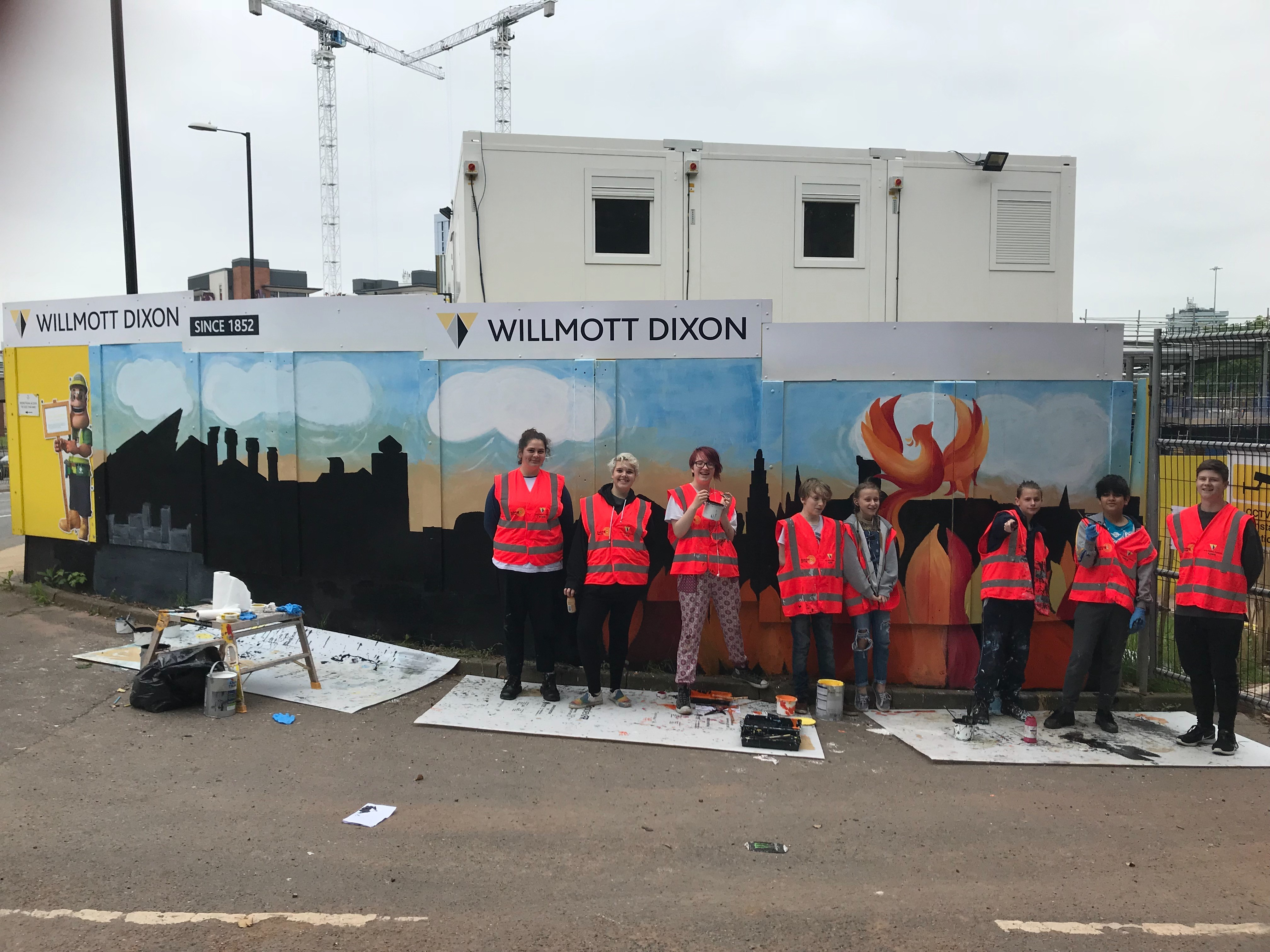 Creating Art – Coventry Fire Station Hoarding Competition