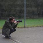 Year 11 student shadows photographer