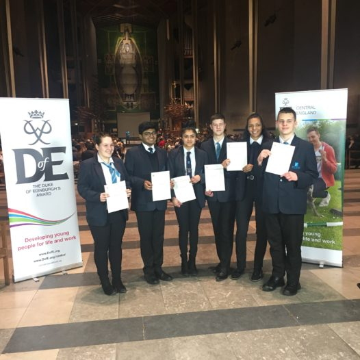 STUDENTS RECEIVE THEIR DUKE OF EDINBURGH AWARDS