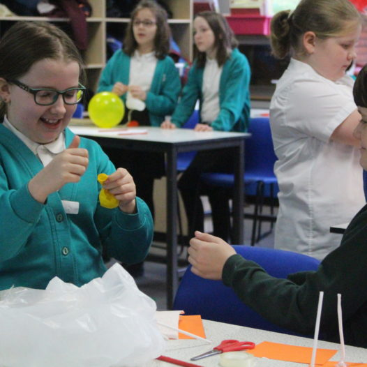 MOSELEY PRIMARY 'SAVE THE EGG' AS PART OF SCIENCE WEEK AT BARR'S HILL SCHOOL